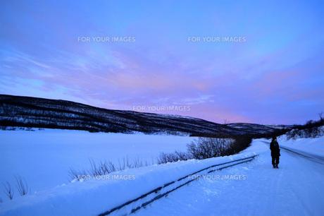 雪国の情景の写真素材 [FYI01223670]