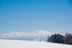 冬の山と青空 大雪山の写真素材 [FYI01223782]