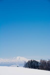 冬の山と青空 大雪山の写真素材 [FYI01223783]