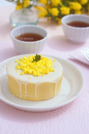 ミモザのケーキの写真素材 [FYI01224331]