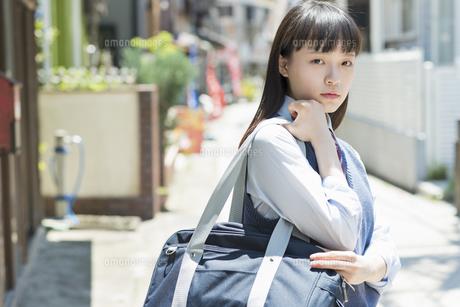 女子高生 登下校 通学路の写真素材 [FYI01224688]