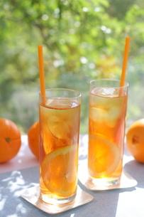 アイスティーオレンジの写真素材 [FYI01224854]