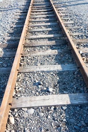 配線になった鉄路の写真素材 [FYI01225265]