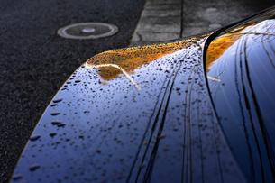 自動車のボディーと水滴の写真素材 [FYI01225972]