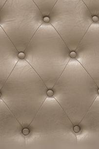 ゴールデンベージュヴィンテージ感のパッド型の革張りの質感の写真素材 [FYI01226588]