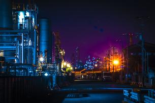 川崎工業地帯の夜景の写真素材 [FYI01226607]