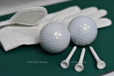 ゴルフ必需品の写真素材 [FYI01227039]