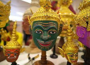 タイ舞踊で使われるコーン・マスク(魔神の仮面)の写真素材 [FYI01227085]