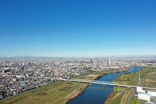 江戸川上空から見た風景の写真素材 [FYI01227231]
