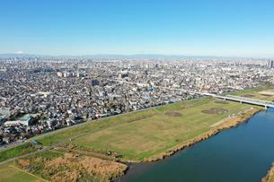 江戸川上空から見た風景の写真素材 [FYI01227232]