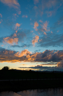 夕焼け空の写真素材 [FYI01227739]