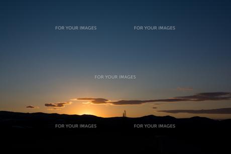 美しい夕焼け空の写真素材 [FYI01227765]