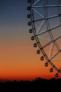 夕暮れ時の葛西臨海公園の観覧車の写真素材 [FYI01227829]