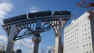 空と銀河鉄道の写真素材 [FYI01227904]
