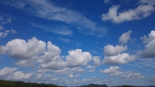 空と雲と山の写真素材 [FYI01227906]