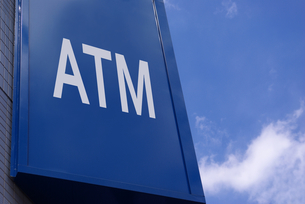 ATMの屋外看板の写真素材 [FYI01228327]