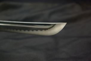 居合刀の切っ先の写真素材 [FYI01228338]