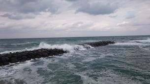 海と北西風と波の写真素材 [FYI01228405]