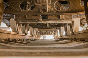 蒸気機関車の底面図の写真素材 [FYI01228469]