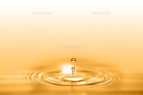 黄金色の水滴の写真素材 [FYI01228512]