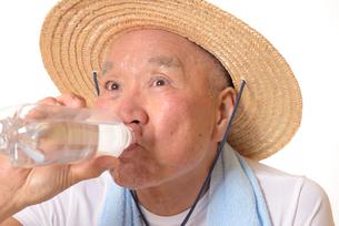 水分補給をするシニアの写真素材 [FYI01229211]