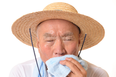熱中症のシニアの写真素材 [FYI01229217]