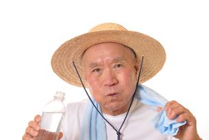 熱中症のシニアの写真素材 [FYI01229225]