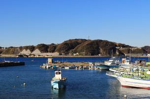 漁港の風景の写真素材 [FYI01229799]