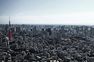東京タワーと東京の風景の写真素材 [FYI01229805]