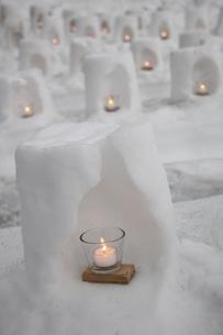青根温泉雪あかりの写真素材 [FYI01230536]