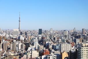 文京区シビックホール25階からの都会を見下ろすの写真素材 [FYI01230956]