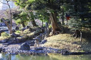 東京ドームに隣接する「小石川後楽園」という日本庭園の写真素材 [FYI01230991]