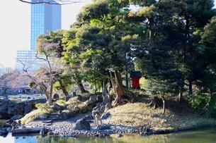 東京ドームに隣接する「小石川後楽園」という日本庭園の写真素材 [FYI01230992]