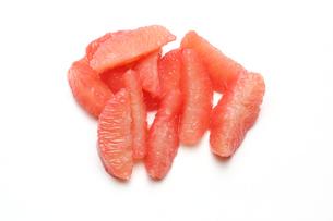 皮をむいたグレープフルーツの写真素材 [FYI01231010]