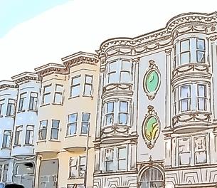 サンフランシスコの街並みのイラスト素材 [FYI01231036]