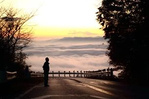 筑波山の雲海の写真素材 [FYI01231866]