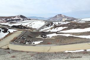 冬の阿蘇山の写真素材 [FYI01231882]