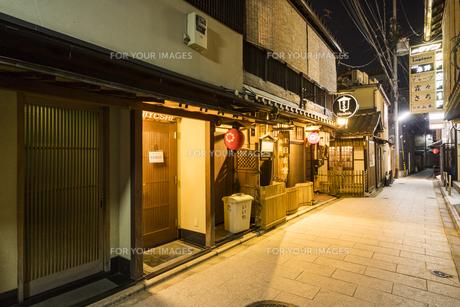 京都祇園周辺の街並みの写真素材 [FYI01232081]