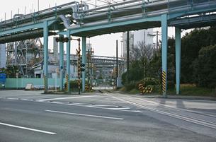川崎の工業地帯の風景の写真素材 [FYI01232130]