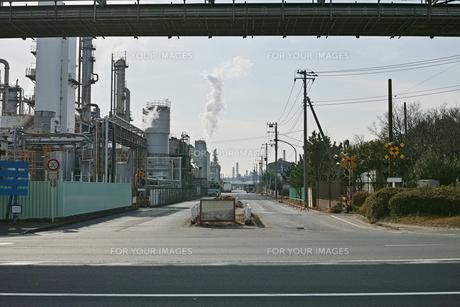 川崎の工業地帯の風景の写真素材 [FYI01232133]