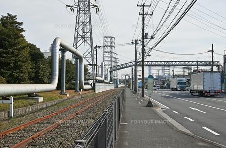 川崎の工業地帯の風景の写真素材 [FYI01232144]