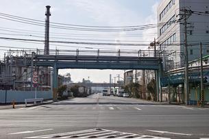 川崎の工業地帯の風景の写真素材 [FYI01232146]