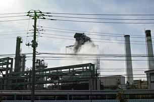川崎の工業地帯の風景の写真素材 [FYI01232147]