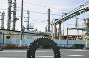 川崎の工業地帯の風景の写真素材 [FYI01232148]