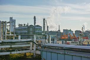 川崎の工業地帯の風景の写真素材 [FYI01232165]