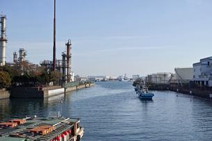 川崎の工業地帯の風景の写真素材 [FYI01232174]