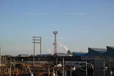川崎の工業地帯の風景の写真素材 [FYI01232366]