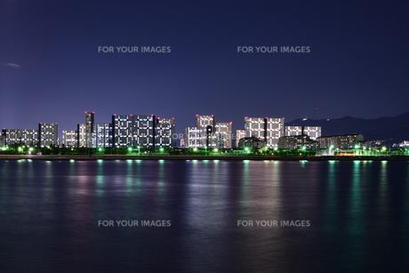 芦屋浜の夜景の写真素材 [FYI01232445]