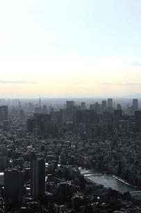 グレー一色のモノクロシティ東京の写真素材 [FYI01232846]