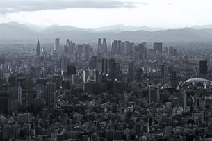 グレー一色のモノクロシティ東京の写真素材 [FYI01232849]